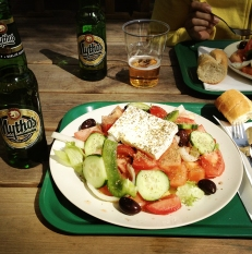 Ate this refreshing lunch at a beach during a cycling trip in Espoo, Finland