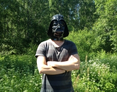 Wore a Darth Vader mask in the sun