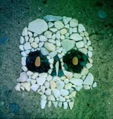 Made a pebble skull in Greece