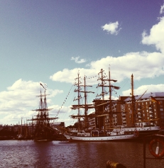 Saw tall ships in Helsinki