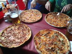 Had pizza and beers with friends from Australia
