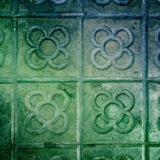 """The Flower"" / tiles in the pavement"