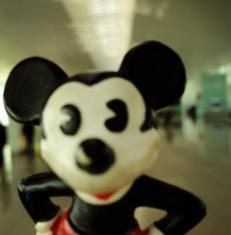 Mickey at Barcelona Airport