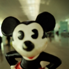 Mickey at Barcelona Airport