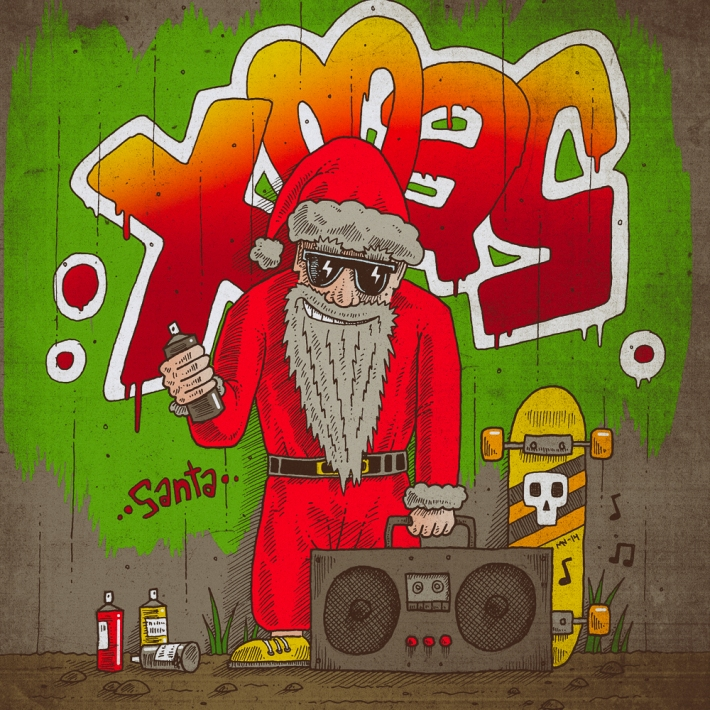 Graffiti_Santa