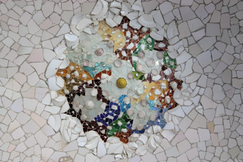 Saw beautiful mosaics in Park Guell.
