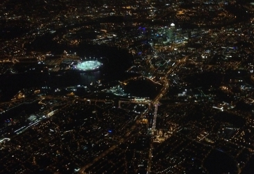 Took this picture of London from an airplane.