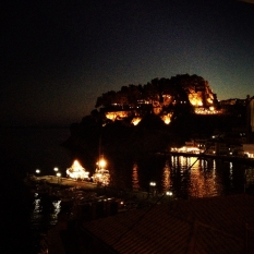 Evening walk in Parga, Greece