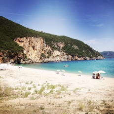 Chilled out on this beach in Greece for a day.