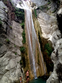 Walked to this waterfall in Lefkada, Greece.