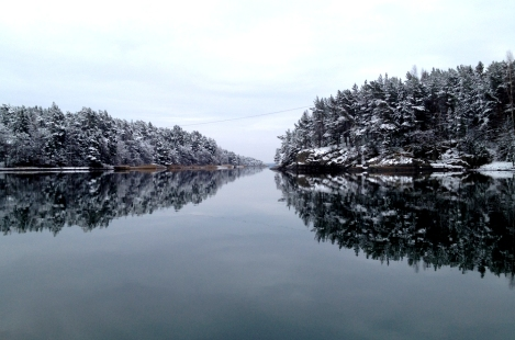 Beautiful wintery scene in Nauvo, Finland