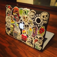 Stickerbombed my laptop.