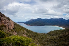 Wine Glass Bay in Freycinet National Park