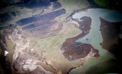 Aerial shot over Tasmania