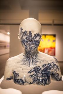 A sculpture by a Chinese modern artist Ah Xian.