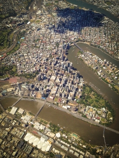 Brisbane from the air.
