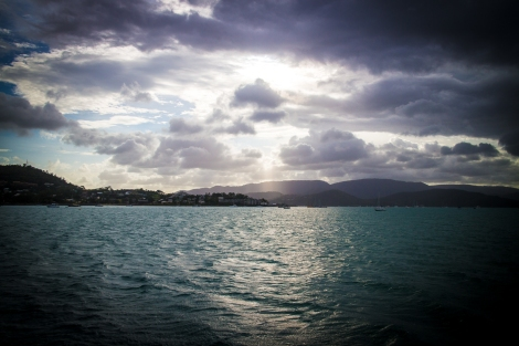 Sunset at Airlie Beach harbour.