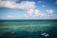 A view from the pontoon we stayed on at Hardy Reef